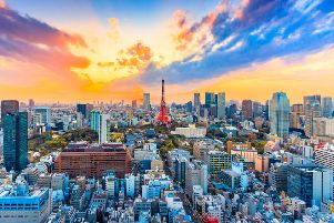Tokyo skyline, a city that pulses with life