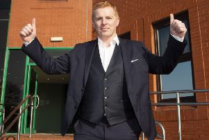Neil Lennon is unveiled as Celtic manager. Picture: SNS