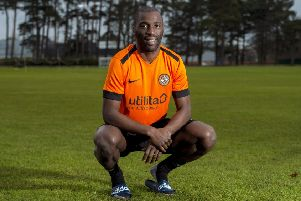Dundee United's Morgaro Gomis. Pic: SNS/Ross MacDonald