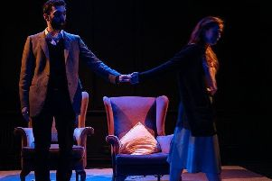 Playwright Matthew Seager as Arthur and Angela Hardie as Jane in In Other Words