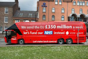 The Brexit bus with the '�350m a week to Brussels' claim