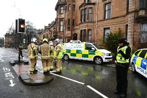 A number of buildings at the University of Glasgow have been evacuated after a suspect package was found in the mailroom.' Picture: John Devlin