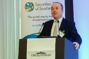 """Scotsman Conference """"Investment 2019"""" at The Principle Charlotte Square 05/03/19 David Coombs of Rathbones"""