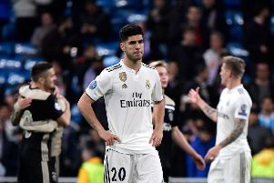 Real Madrid's Spanish midfielder Marco Asensio after his side's Champions League exit at the hands of Ajax. Picture: AFP/Getty