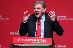 The Scottish Labour leader was making the keynote address to the party's Spring conference in Dundee. Picture: Andrew Milligan/PA Wire
