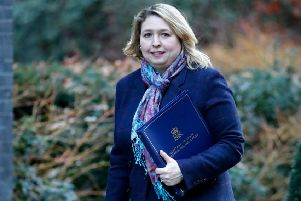 Karen Bradley is bowed but unbeaten by her recent gaffe, though there have been calls for her resignation. Picture: Tolga Akmen/Getty