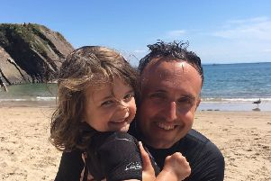 "Alex Cole-Hamilton MSP has told how he saved his four-year-old daughter from choking to death on a coin, after ""muscle memory"" kicked in from a first aid course he took 25 years ago.' Picture: Alex Cole-Hamilton/Twitter"