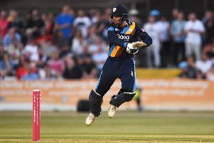 Scotland's Calum MacLeod playing for Derbyshire in England's Vitality Blast T20 competition. Picture: Nathan Stirk/Getty