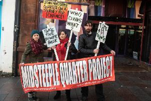 Midsteeple Quarter campaigners in Dumfries.