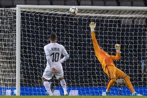 Allan McGregor pulls off a late save to deny Israel's Tomer Hemed. Picture: Alan Harvey/SNS