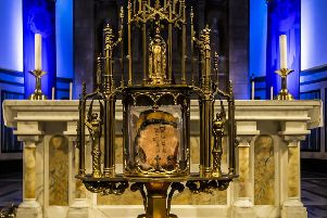 Part of St Margaret's shoulder bone has been removed from its reliquary by archaeologists seeking to find out more about the life of one of Scotland's most venerated figures. Picture:Andrew Fleming