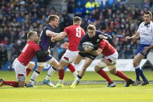 Scotland's Darcy Graham in action against Wales in the Guinness Six Nations clash last weekend. Picture: SNS Group
