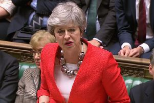 Prime Minister Theresa May speaking in the House of Commons. Picture: House of Commons/PA Wire