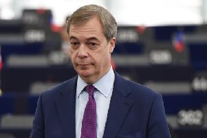 Mr Farage's Brexit Party has set up a website at www.thebrexitparty.org, where internet users can find information about the new group and sign up to support or make donations. Picture: AFP/Getty