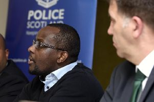 Lionel's brother Nicolas, 35, flew into Edinburgh from Belgium for a press conference yesterday to appeal for help. Picture: TSPL