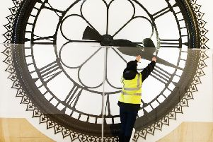 The St Enoch Station clock in Cumbernauld, where John Gordon Sinclair hoped to meet Dee Hepburn in Gregory's Girl. Picture: contributed