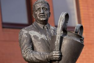 Jock Stein's statue outside Celtic Park. Picture: SNS