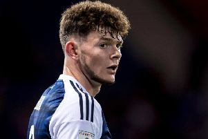 Oliver Burke is in line to lead Scotland's attack in Astana. Picture: SNS