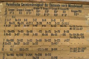 The chart is believed to be the world's oldest periodic table. Picture: PA