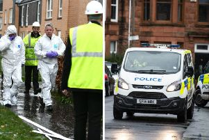 A gas explosion in a flat which left two people injured is being treated as an attempted murder by police. Picture: John Devlin