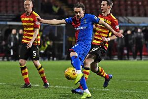 Inverness' Tom Walsh scores to make it 2-1. Picture: Rob Casey/SNS