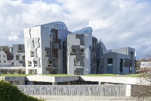 Exterior view of the Scottish Parliament, Holyrood.