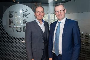 Elevator chief executive Gary McEwan with Finance Secretary Derek Mackay in Aberdeen. Picture: Michal Wachucik