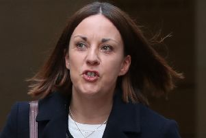 Former Scottish Labour leader Kezia Dugdale leaves Edinburgh Sheriff Court where she is facing a defamation action brought by pro-independence blogger Stuart Campbell. Picture: Andrew Milligan/PA Wire