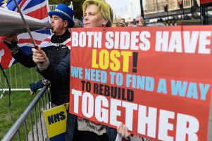 Brexit campaigners. (Photo by Leon Neal/Getty Images)