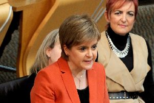 Nicola Sturgeon in Holyrood. Picture: Lisa Ferguson