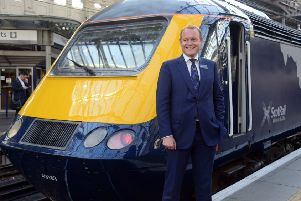 ScotRail MD Alex Hynes is facing a train shortage crisis, as HSTs will not be able to run after December if they don't meet disability regulations. Photograph: Jon Savage