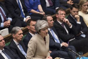 Prime Minister Theresa May speaking after the government's withdrawal agreement was voted down for the third time in the House of Commons. Picture: UK Parliament/Mark Duffy/PA Wire
