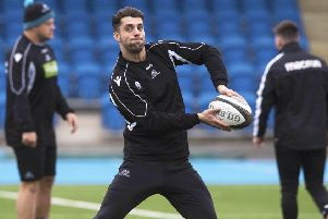 Adam Hastings says strong words were exchanged after Glasgow's defeat by Saracens. Picture: SNS