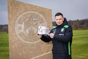Hibernian head coach Paul Heckingbottom has been named as Ladbrokes Premiership Manager of the Month for March. Picture: SNS.