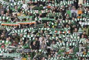 A general view of Celtic fans. Picture: SNS Group