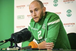 Hibernian captain David Gray. Picture: SNS