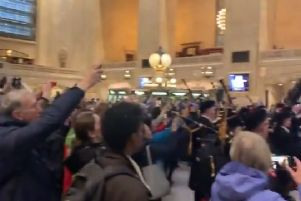 The performance brought Grand Central to a standstill. Picture: Cllr Frank McNally