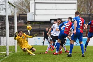 Inverness' Brad Mackay scores the winner. Pic: SNS/Ross MacDonald