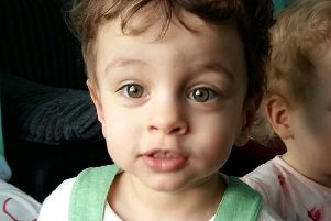 Claire Smith, the aunt of sick toddler Caleb Stirrat (pictured), said the widespread generosity from the public has reduced the family to tears. Picture: SWNS