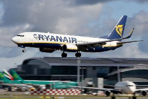 A Ryanair plane.  Picture: Paul Faith