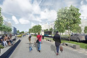 An artist's impression of how Ravenscraig would look after its redevelopment. Picture: contributed