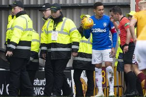 Motherwell have moved quickly to identify fans who threw objects at 'Rangers captain James Tavernier. Picture: SNS