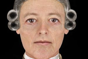 The facial reconstruction that depicts Bonnie Prince Charlie in later years. PIC: Hew Morrison.