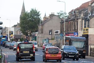 St John's Road in Edinburgh, which is one of Scotland's most polluted streets