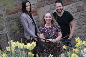 From left: Kate Avery of Modulr, Lisa Thomson of Purpose HR and John Peebles of Administrate. Picture: Stewart Attwood.