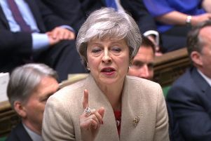 Prime Minister Theresa May speaks in the House of Commons during a Brexit debate. PRESS ASSOCIATION