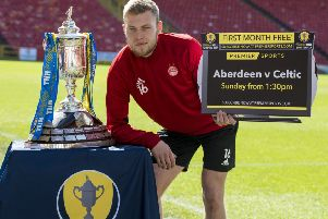 Aberdeen's Sam Cosgrove looks forward to his side's William Hill Scottish Cup semi-final against Celtic. Pic: SNS/Alan Harvey