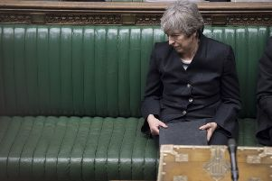 Prime Minister Theresa May giving her statement in the House of Commons, London on the latest situation with Brexit. Picture: UK Parliament/Jessica Taylor /PA Wire