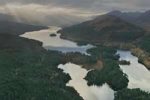Stunning Glen Affric features in the new series of Scotland from the Sky. PIC: HES.