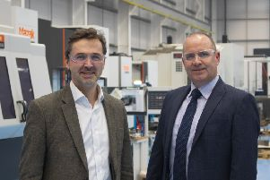 Pryme Group CEO Angus Gray (left) and SengS managing director David Benison. Picture: Contributed